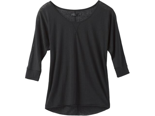 Prana Tranquil T-shirt manches longues Femme, black